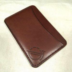 Tinker wallet in dark brown with dark brown stitching