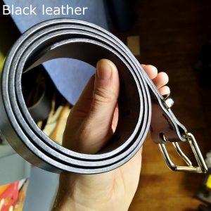 Tunner belt in black (edge)