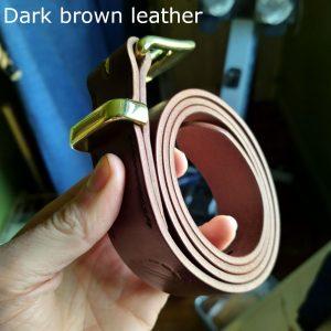 Tunner belt in dark brown (edge)