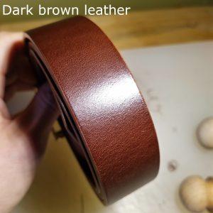 Tunner belt in dark brown