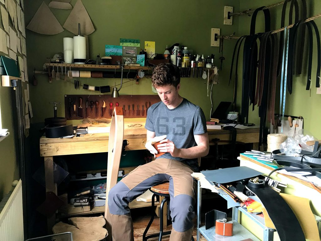 A photo of Oliver Foulds in the workshop