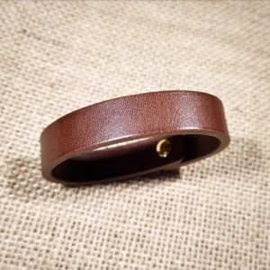 Trickster bracelet in dark brown (reverse)